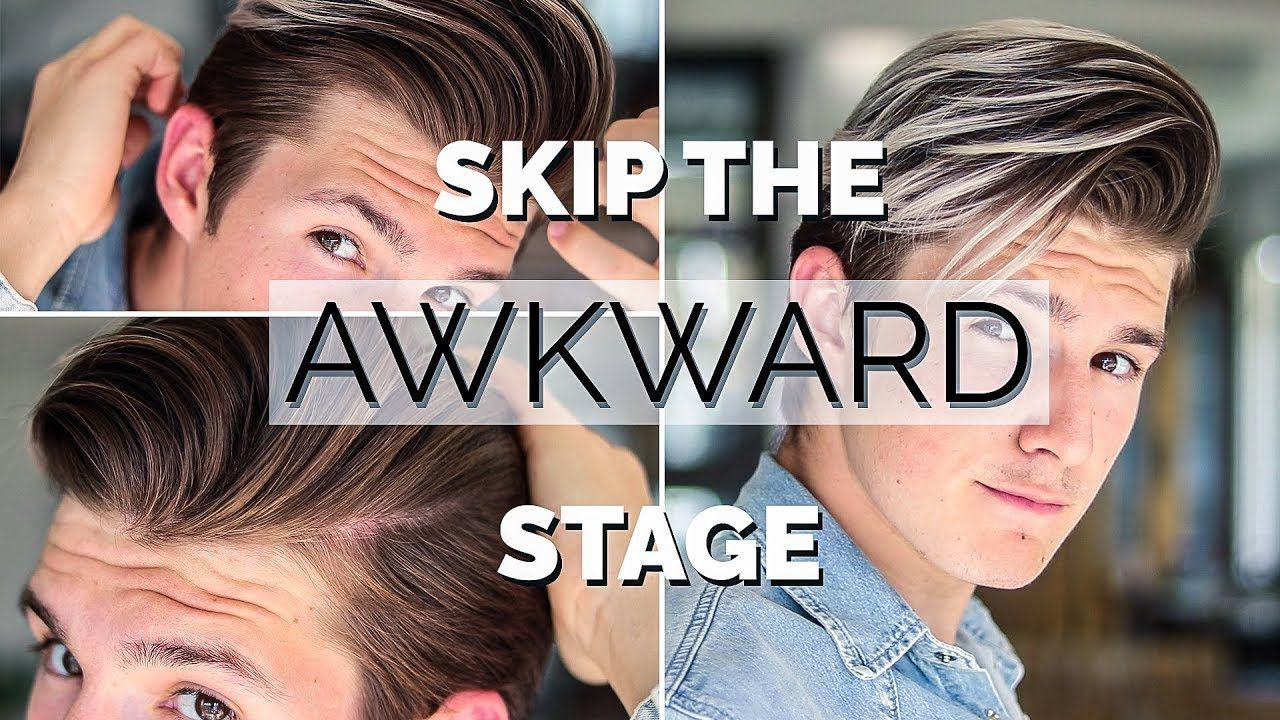 Pin By Ronda Weirich On Hair Makeup In 2020 Growing Hair Out Men Hair Tutorial Mens Hairstyles
