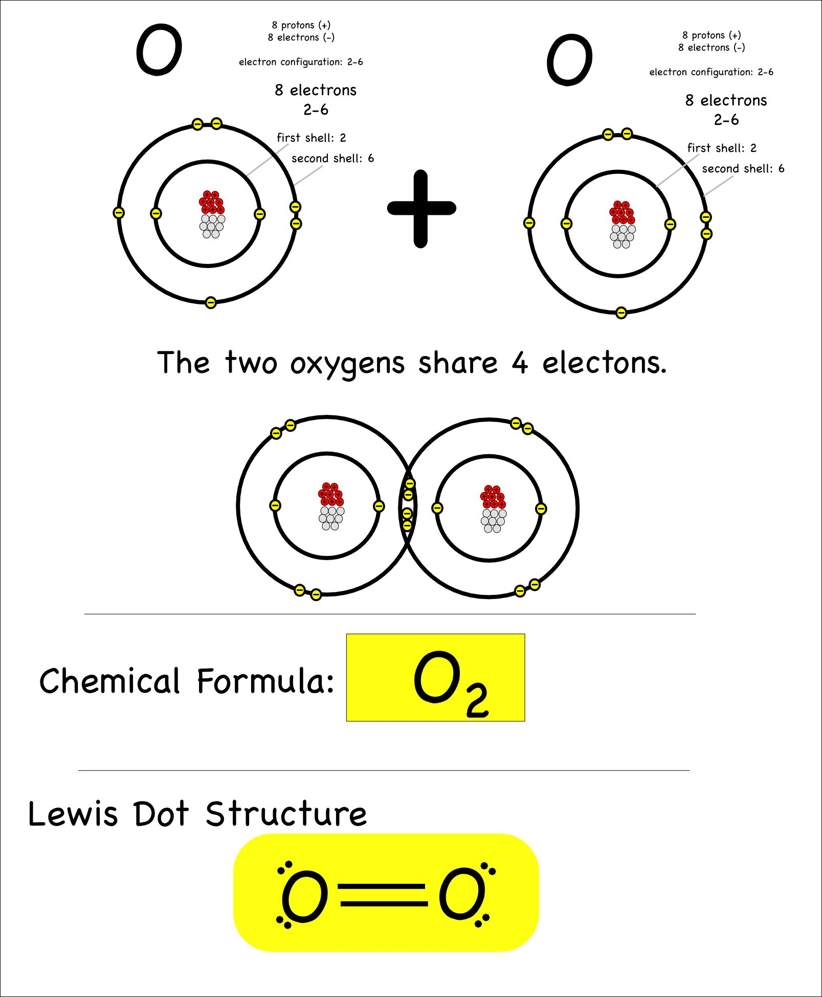 Covalent Bonding In An Oxygen Molecule