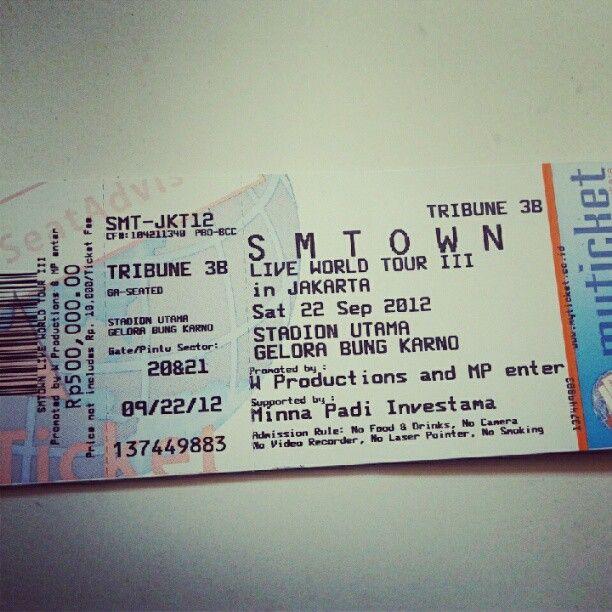 SMTown Concert Ticket #Yeeaaayy Girlsu0027 Generation Pinterest - concert ticket layout
