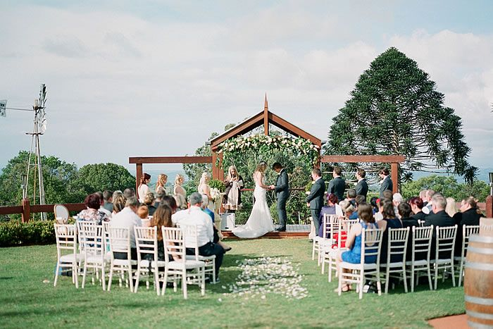 With A Spectacular View Of The Sunshine Coast Hinterland This Venue Is Perfect Place For An Intimate Outdoor Wedding