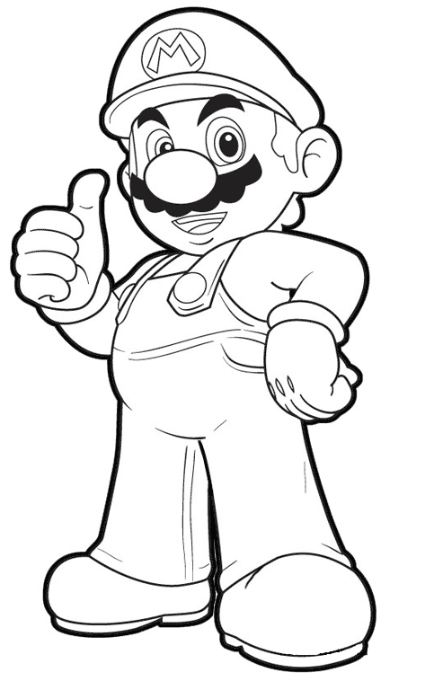 Ausmalbilder Mario Bros Super Mario Coloring Pages Mario