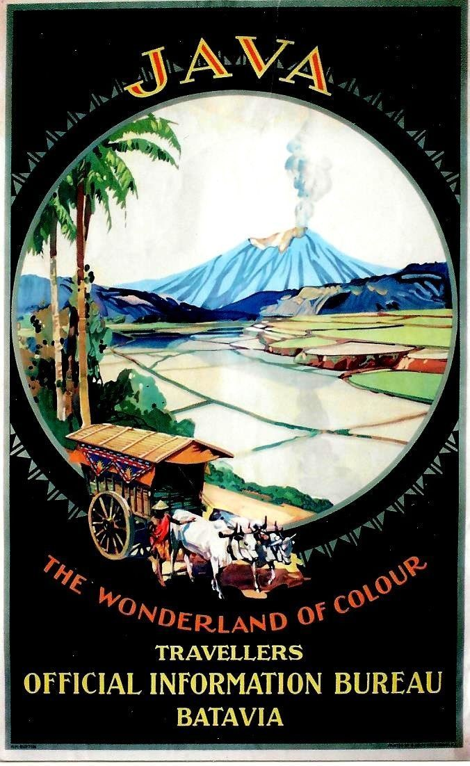 Vintagepromotions 1920s Travel Poster For Java Dutch East Indies Now Indonesia Vintage Travel Posters Travel Art Vintage Poster Art