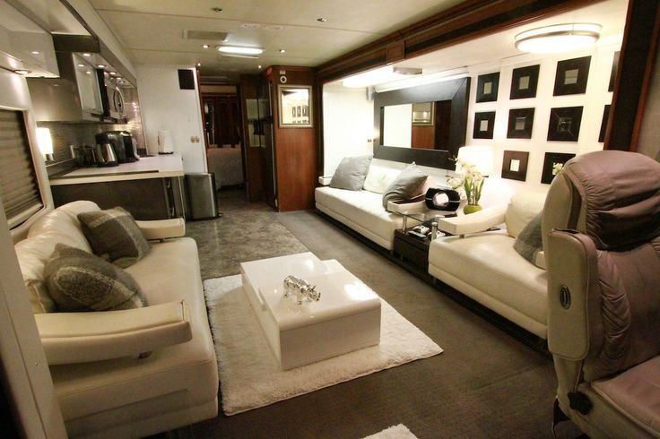 Inside Celebrity Tour Buses Luxury Living Room Luxury Living