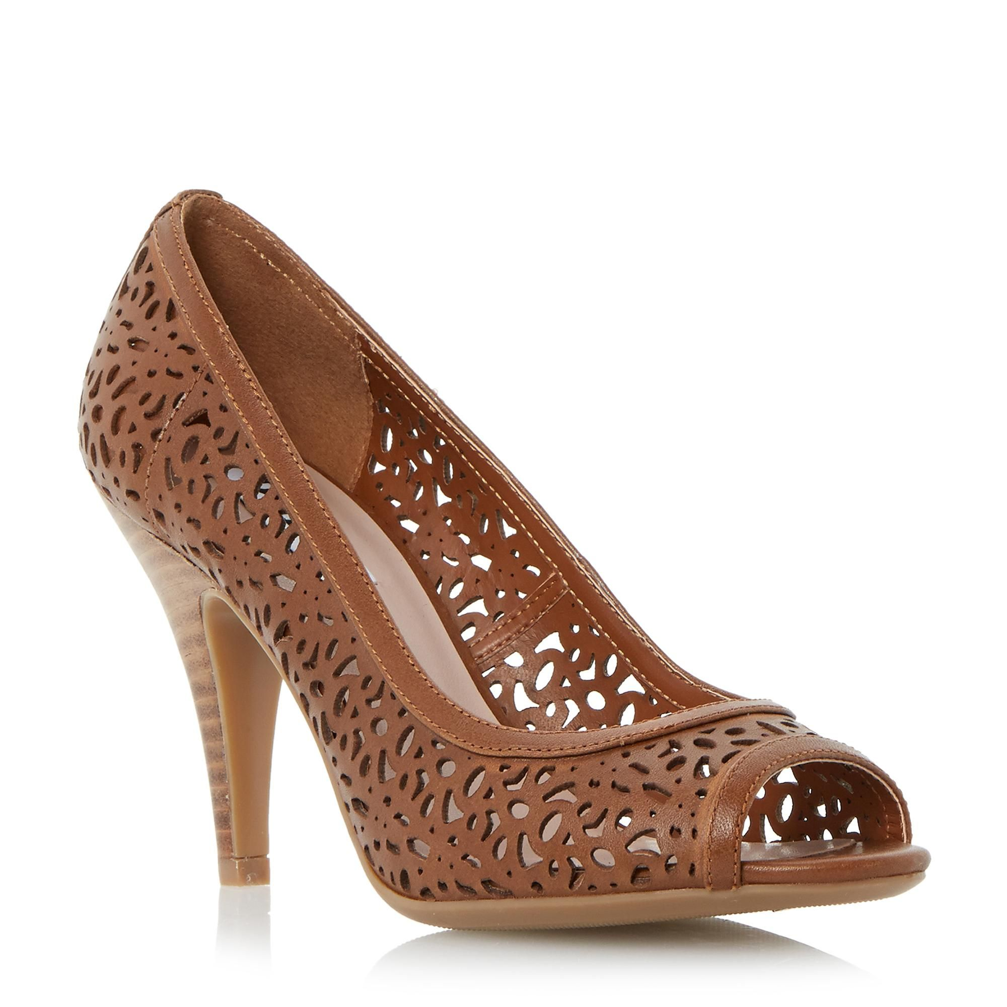 Women's Peep Toe Pumps Court Shoes