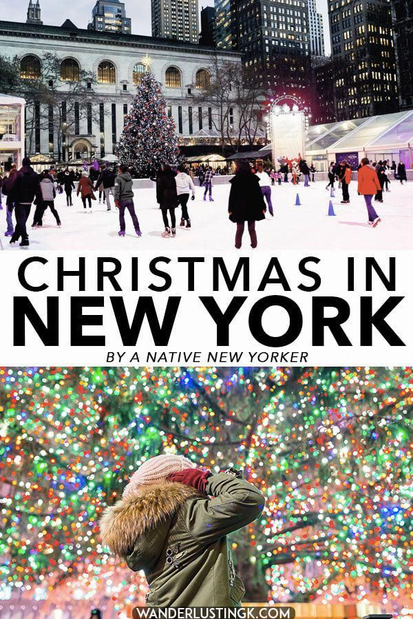 Your insider guide to the best of Christmas in New York City written by a native New Yorker, including the best things to do in New York City in December and during Christmas week. Including how to celebrate Christmas like a native New Yorker and what to do during Christmas Day in New York CIty. #NYC #Christmas #NewYork #RockefellerCenter #NewYorkCity #upstatenewyorktravel