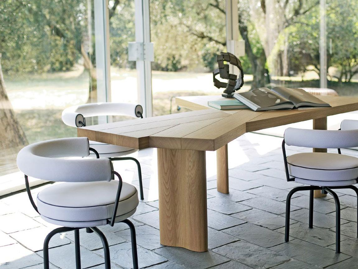 Lc7 Chair Contemporary Dining Table Dining Table Oak Dining Table