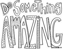 Inspirational quotes for students to color... great way to