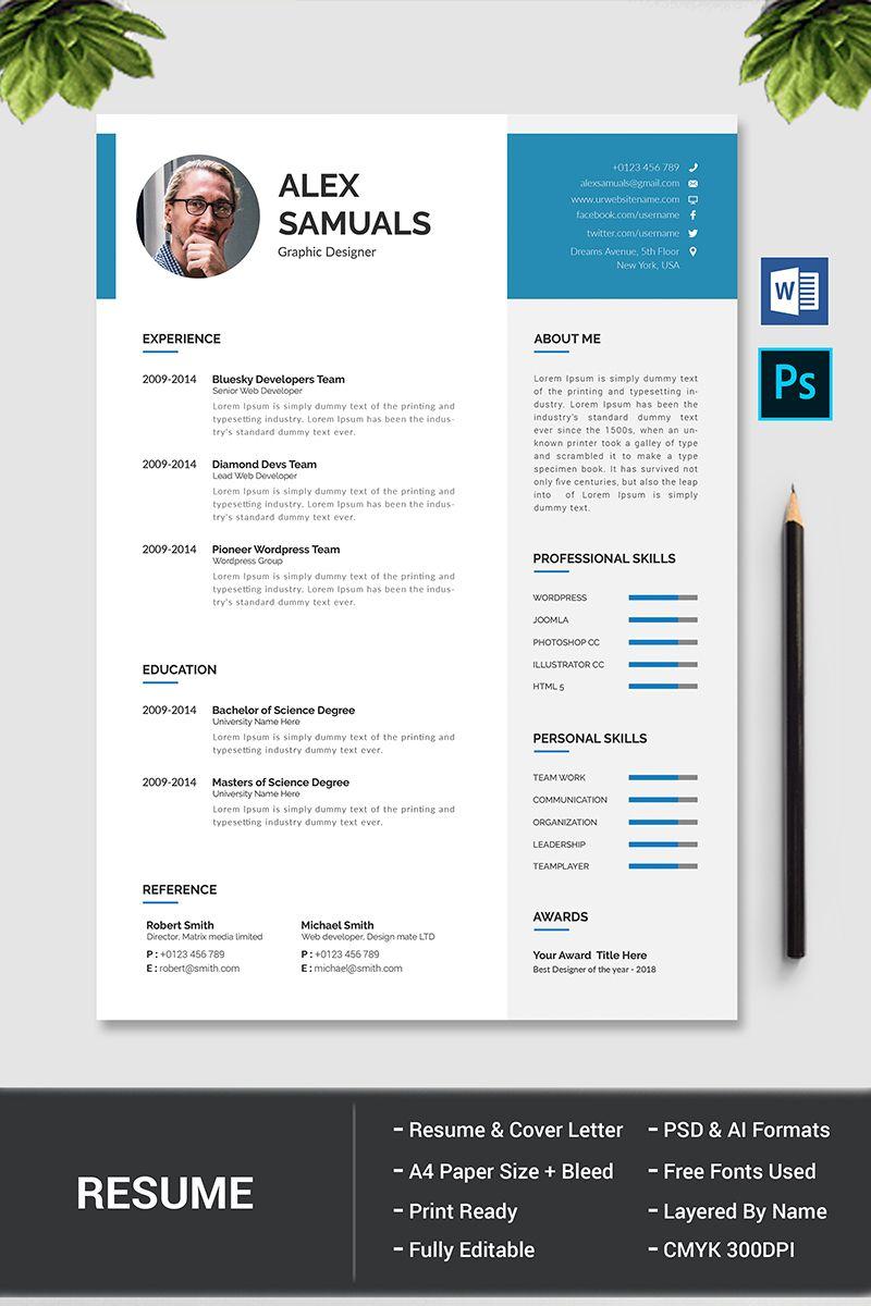 Alex Samuals Resume Template 76970 Book Design