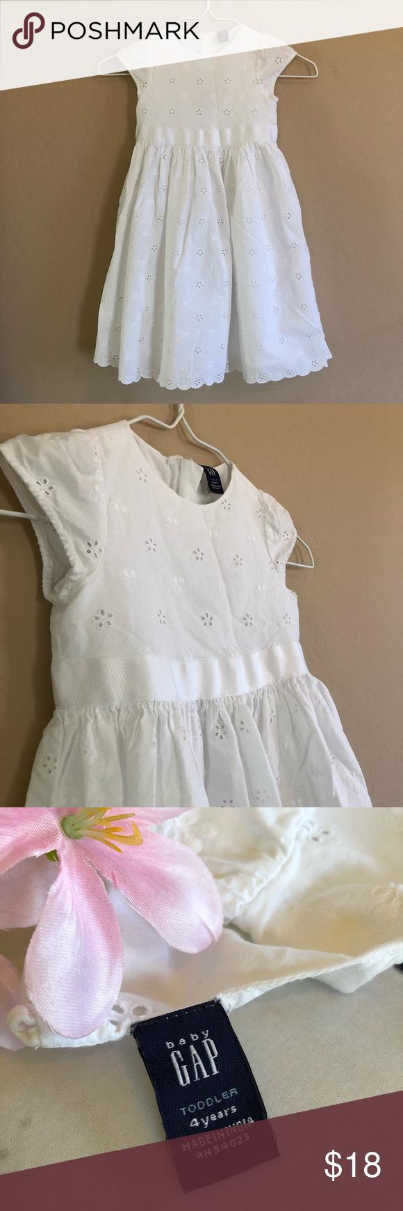 Baby Gap Dress White Eyelet Pattern 4t Size Baby Gap Dress Gap Dress Dresses [ 1740 x 580 Pixel ]