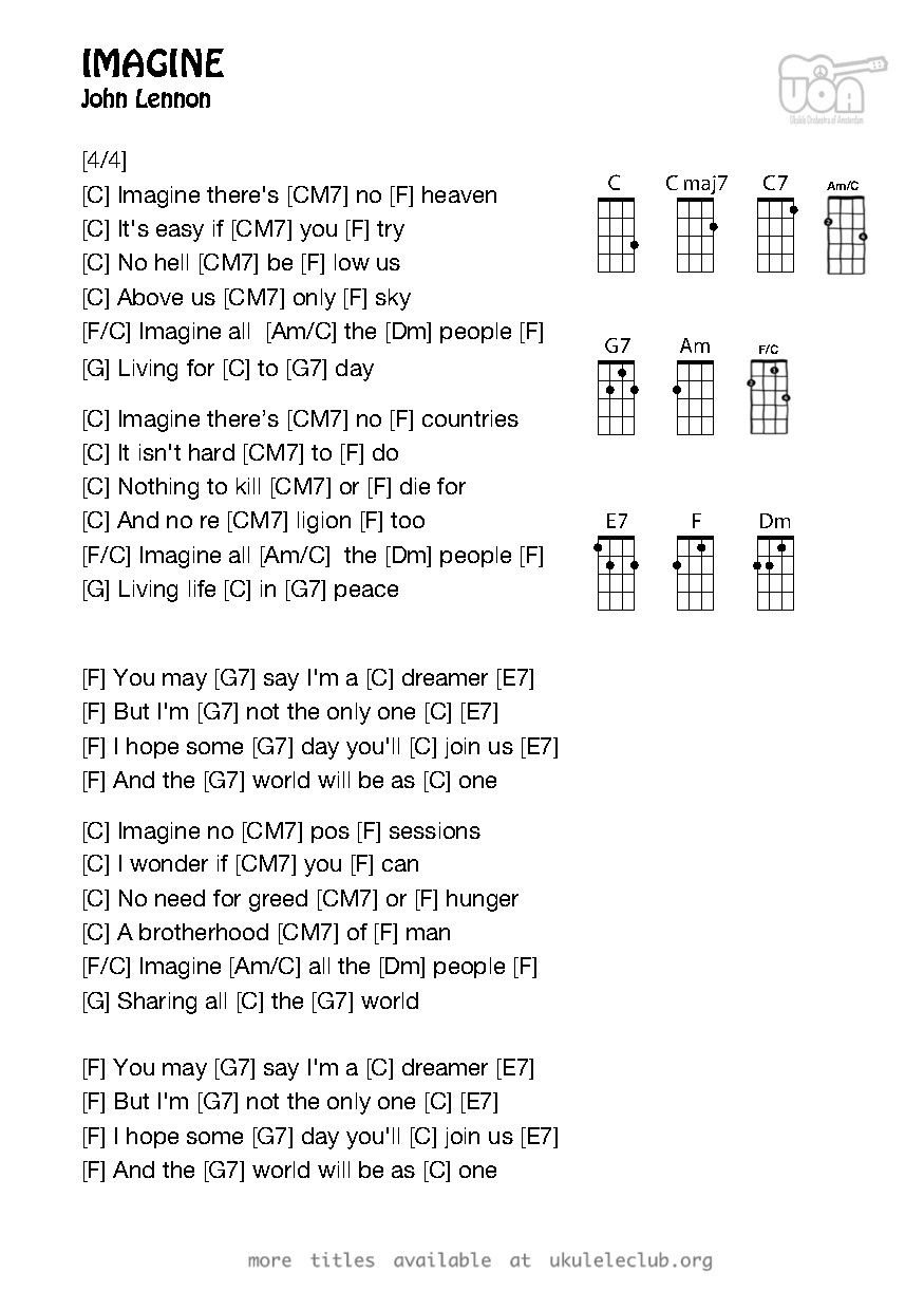 Pdf thumbnail should appear here im in the mood for a melody ukulele chords imagine by john lennon hexwebz Images