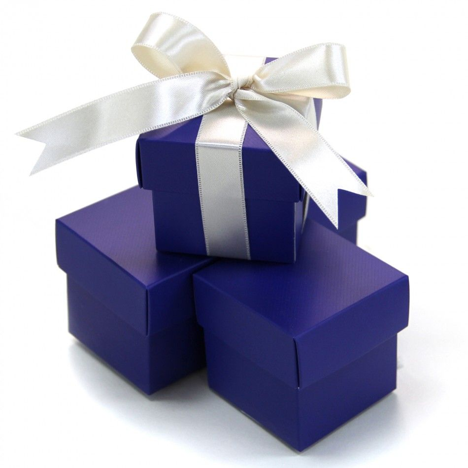 Two Piece Favor Boxes | Wedding | Pinterest | Royal blue, Favors and Box