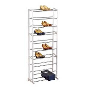 Lynk 30 Pair Shoe Rack 10 Tier Shoe Shelf Organizer White Shoe Shelf Shelf Organization Shoe Rack Organization