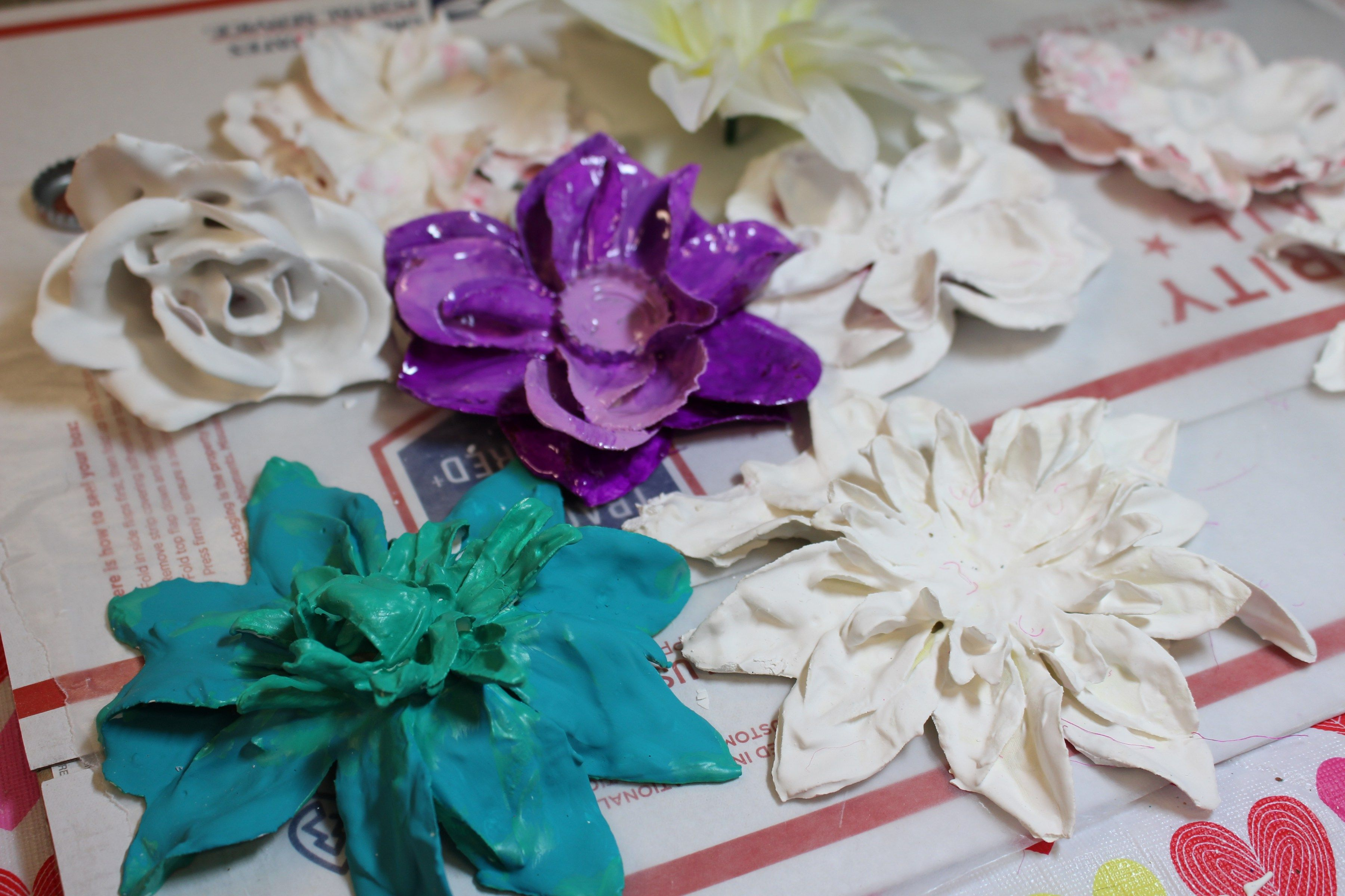 How to make these stunning plaster dipped flowers paper crafting