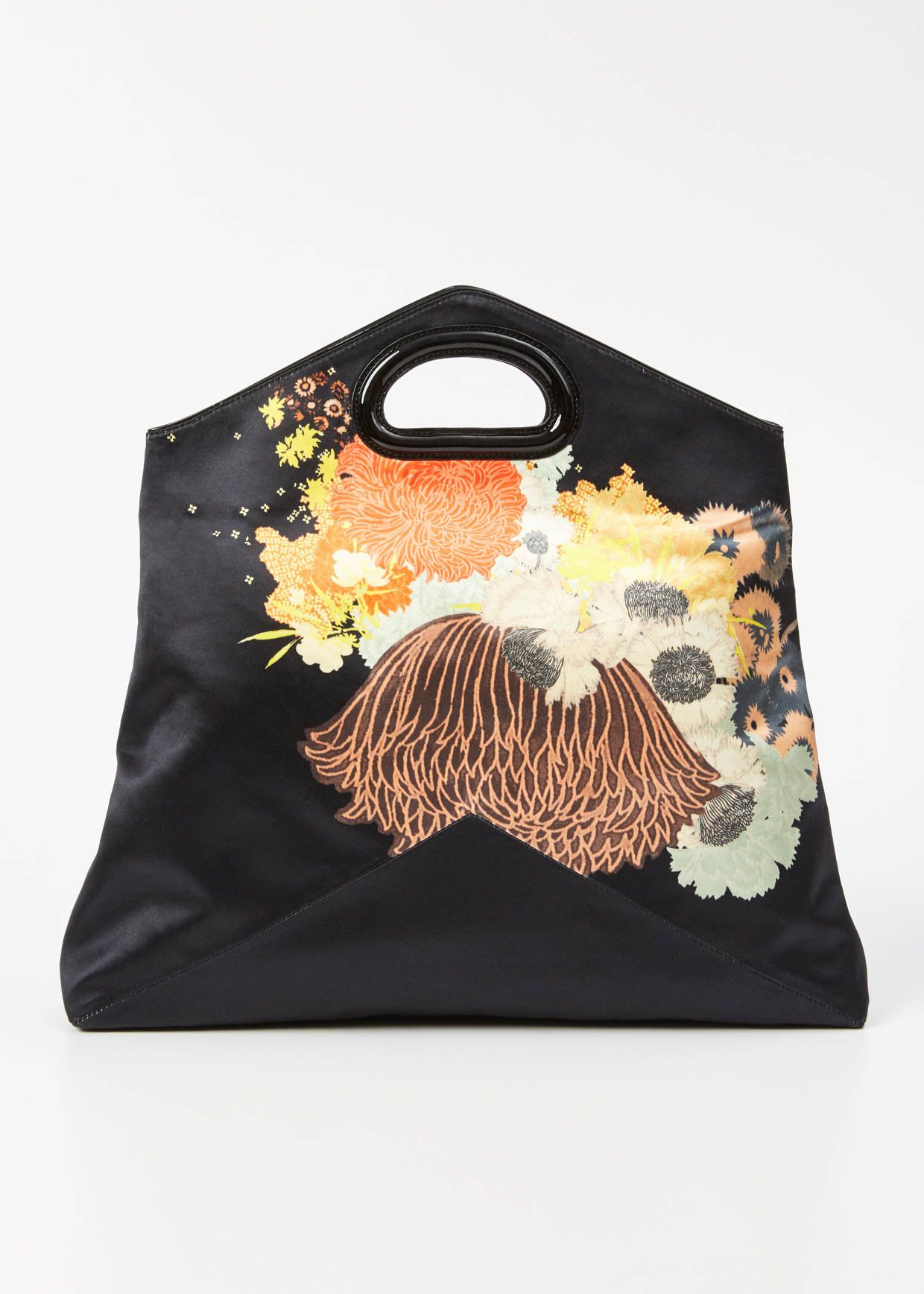 d0acaafe1 Dries Van Noten Floral Envelope Clutch (Black) | Carteras, monederos ...