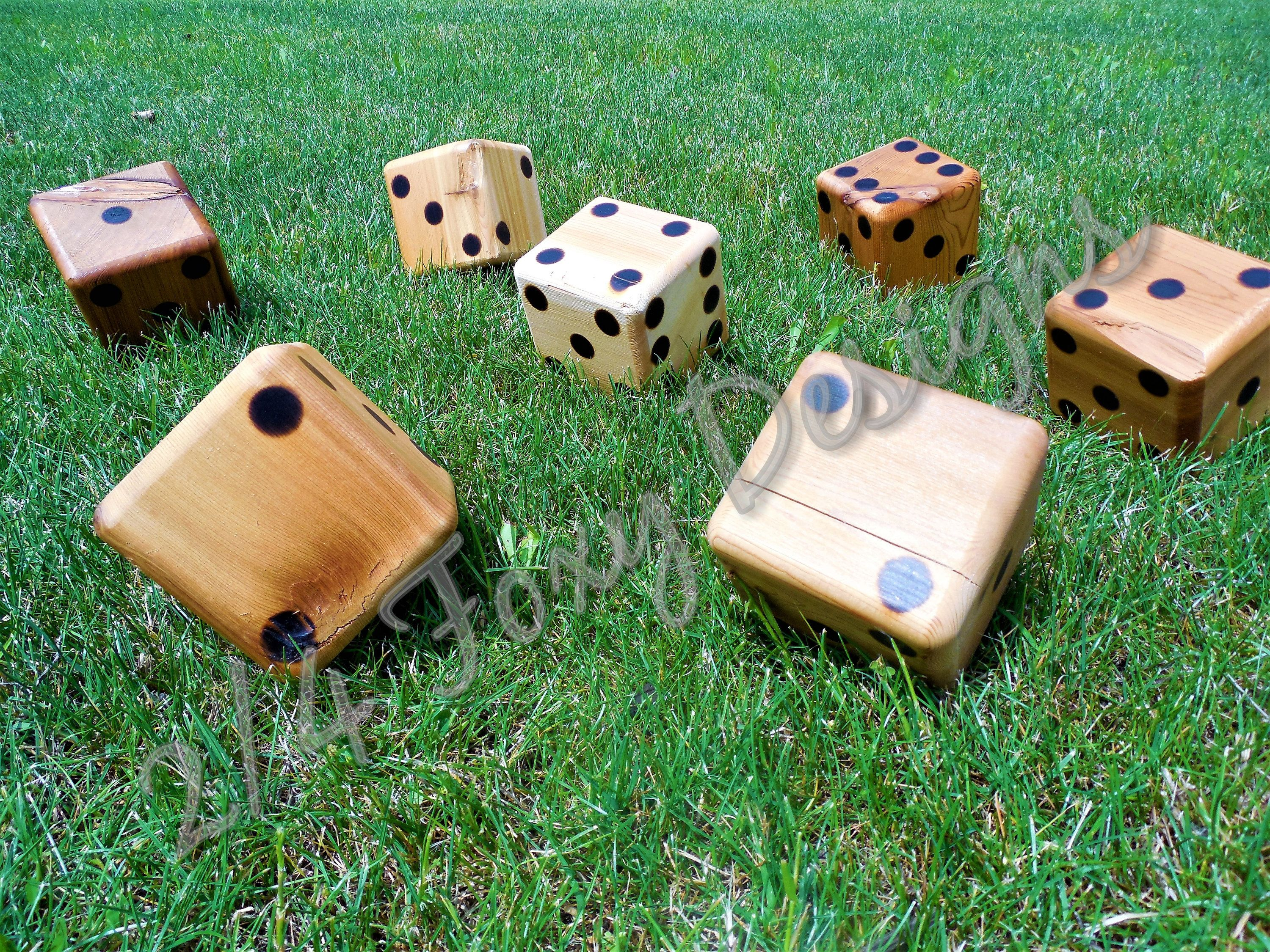 Character Dice Wooden Yard Large Lawn By Twofourfoxydesigns On Etsy