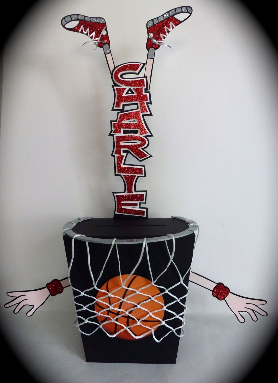 Here S A Funky And Fun Gift Card Box Designed With A Basketball