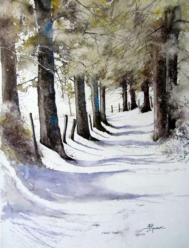 Pin By Jim Nelson On Things To Paint Winter Painting Landscape