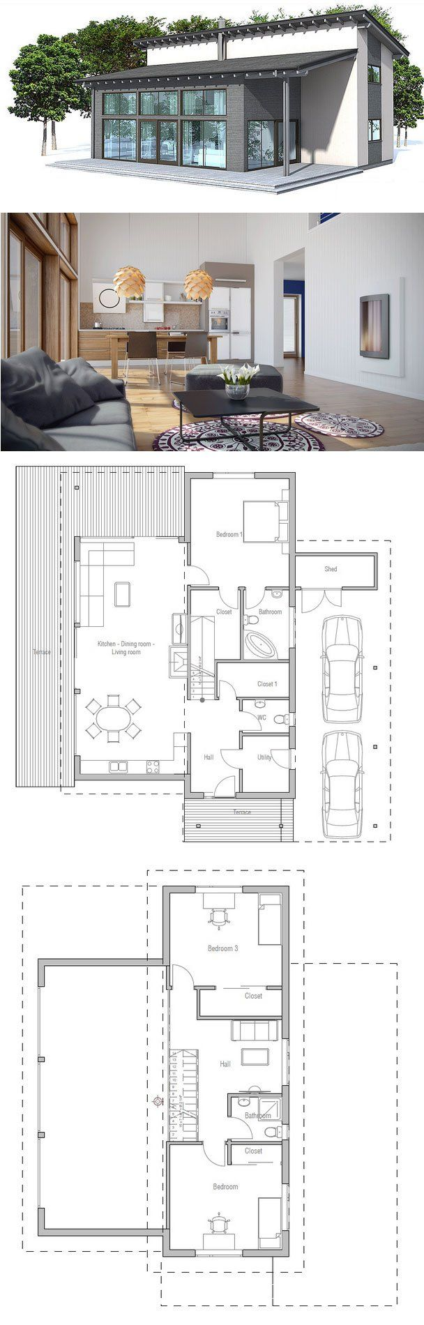 Very Popular Small House Plan Suits Well To Small Lot