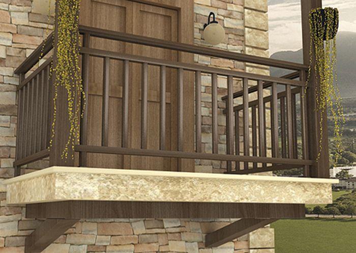 Barandas de madera para balcones buscar con google Balcones madera exterior