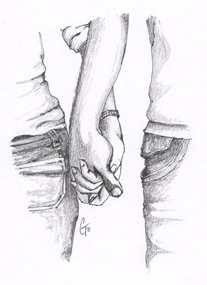 Couple Holding Hands Tumblr Drawing 1000 Images About On