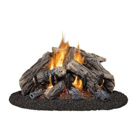 Style Selections 28 In 22 In Vented Gas Fireplace Logs With