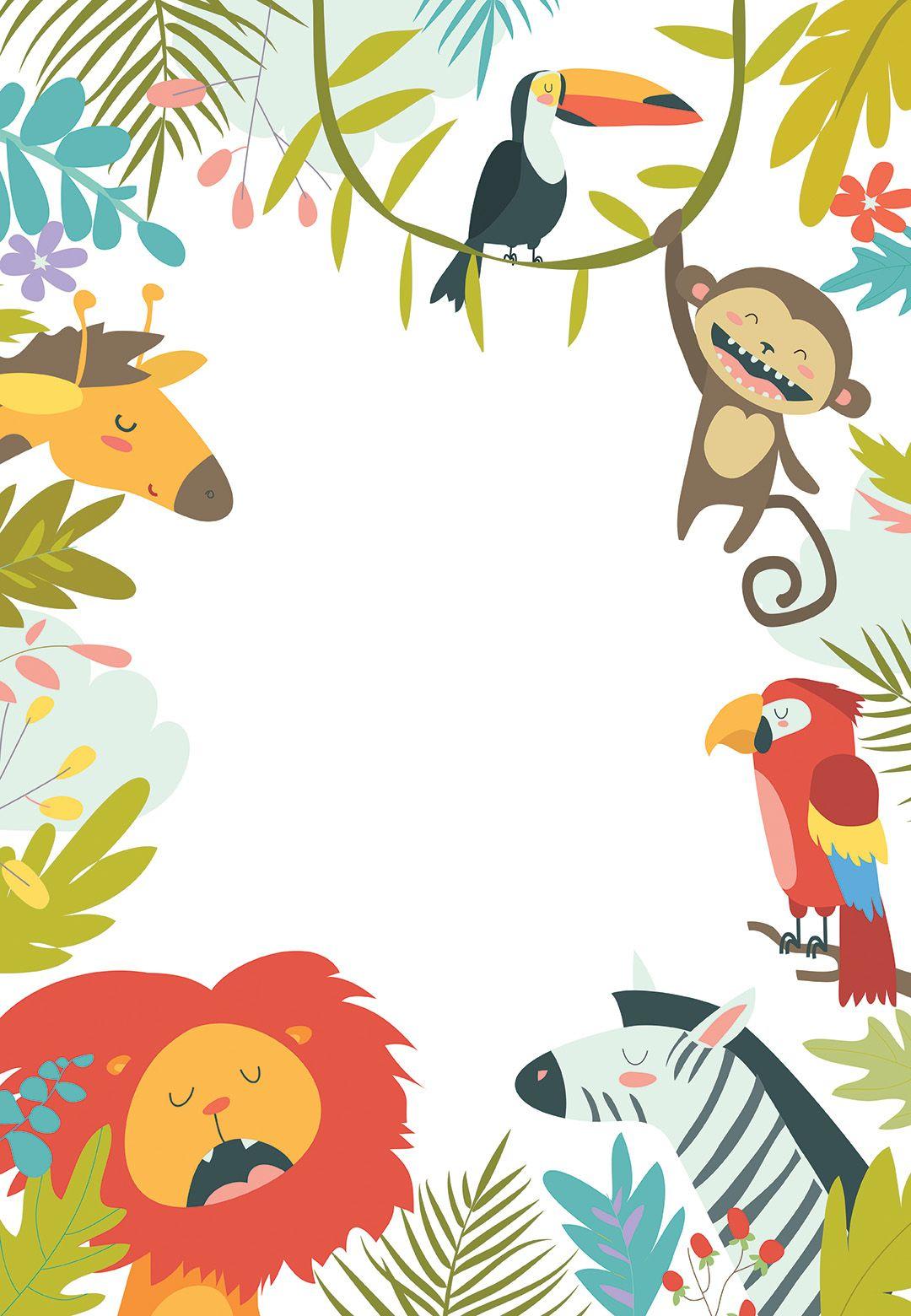 Wild Animals - Birthday Invitation Template (free)  Greetings
