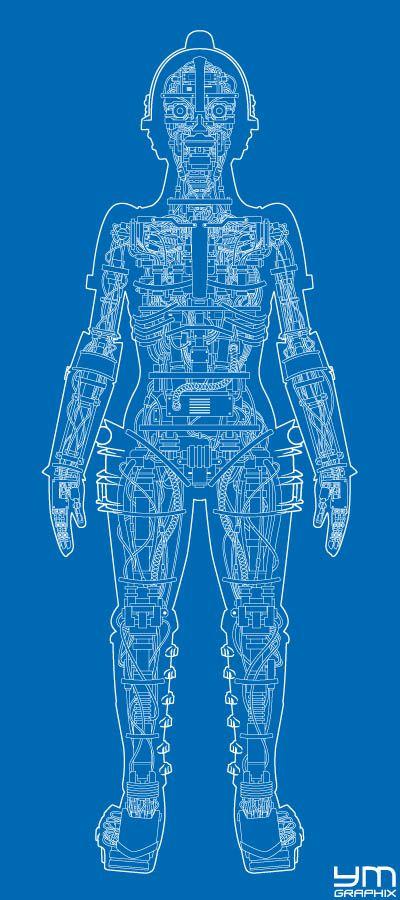Metropolis Robot Anatomy (blueprint) Blueprints Pinterest - new robot blueprint vector art
