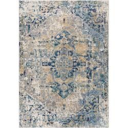 Photo of benuta carpet Cedar beige / blue 80×150 cm – vintage carpet in the used look benuta