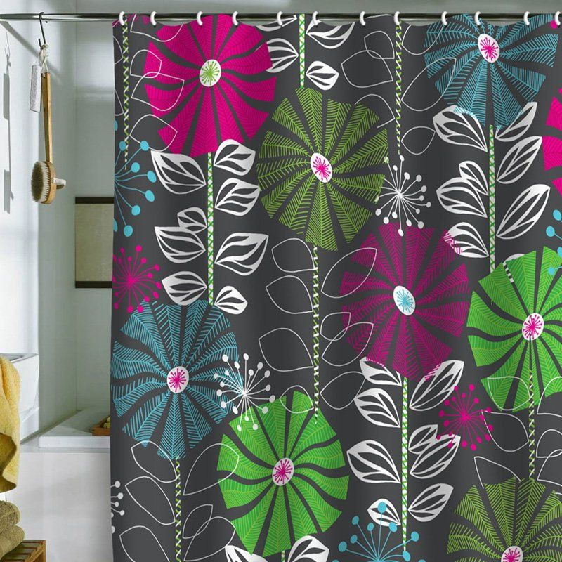 Deny Designs Khristian A Howell Cape Town Blooms Shower Curtain Cool Shower Curtains Cute Shower Curtains Flower Shower Curtain