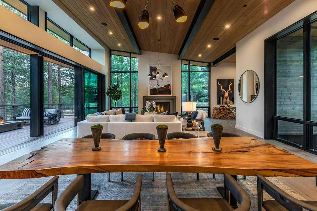 Super luxe Tahoe cabin offers private waterfall and