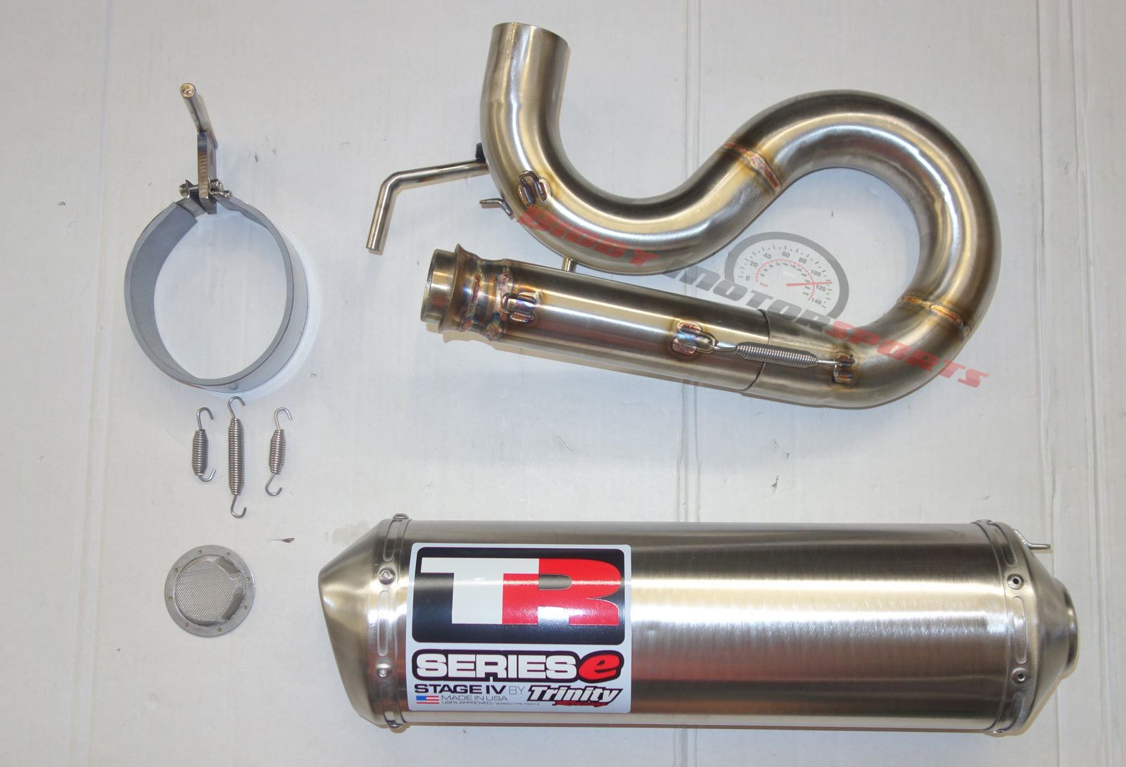 Trinity Racing Exhaust Pipe Muffler Slip-on Polaris Rzr 800