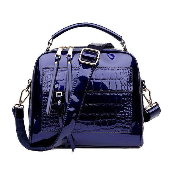 Red Crocodile Patent Leather Tote Bag Women Handbags Luxury Women Bags Designer Crossbody Shoulder Bags