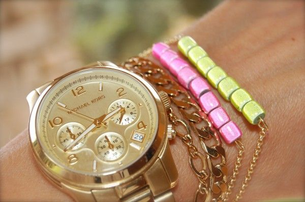 the stylish housewife - neon bracelets that support a great cause!