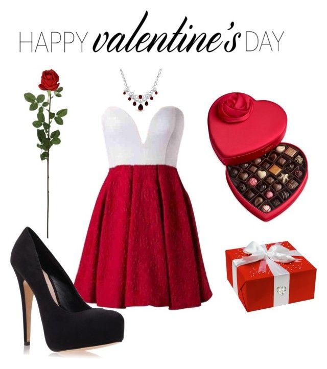 """""""Valentine's day outfit"""" by nindza-p0m0randza ❤ liked on Polyvore featuring Laura Cole, Bling Jewelry, Carvela Kurt Geiger, Godiva, women's clothing, women, female, woman, misses and juniors"""