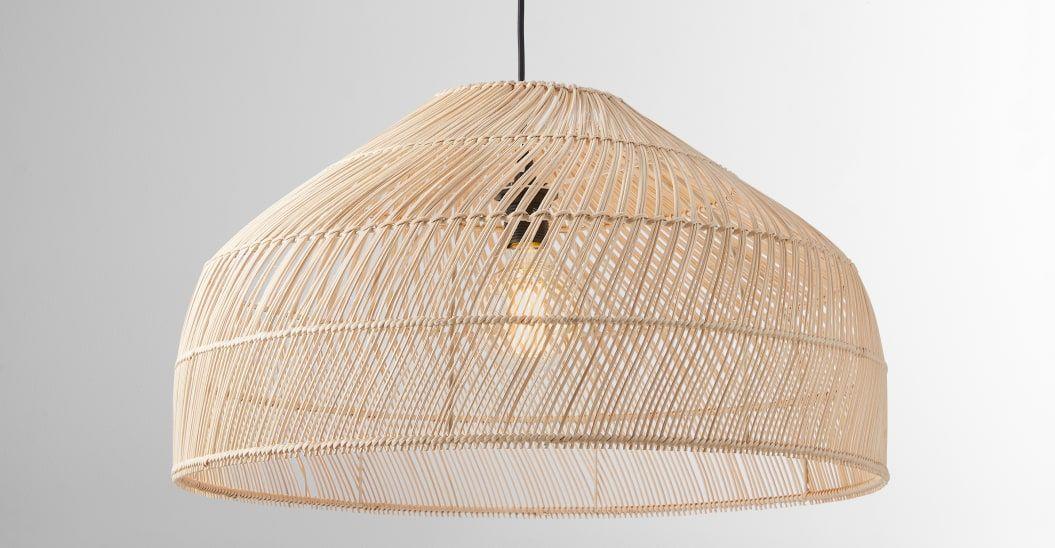 Java Lamp Shade Extra Large Natural Rattan Made Com In 2020 Lamp Shade Rattan Pendant Light Lamp
