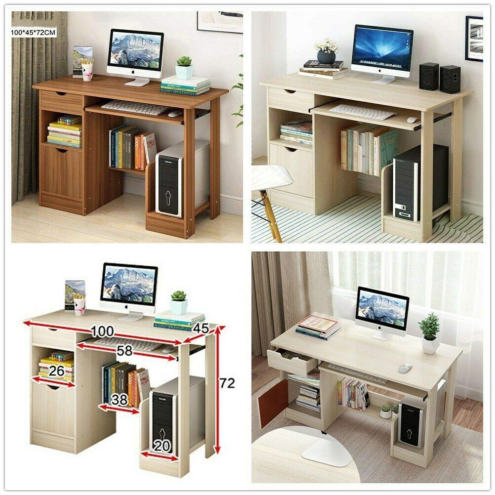 Table Dordinateur Bureau Informatique Pc Tiroir Plateau De Clavier Etudiant Informatique Idees De Informatique Informatique Desk Corner Desk Home Decor