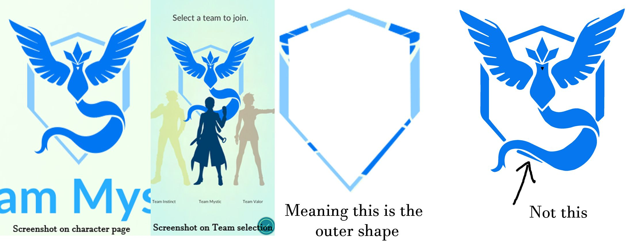 Team Mystic Artists Let S Talk About Our Logo S Shape Mystic Logo Team Mystic Logo Shapes