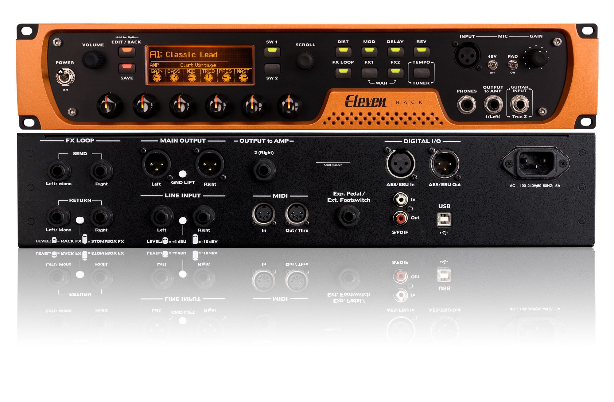Guitar Preamp Fx Avid Eleven Rack Live Studio Recording Interface