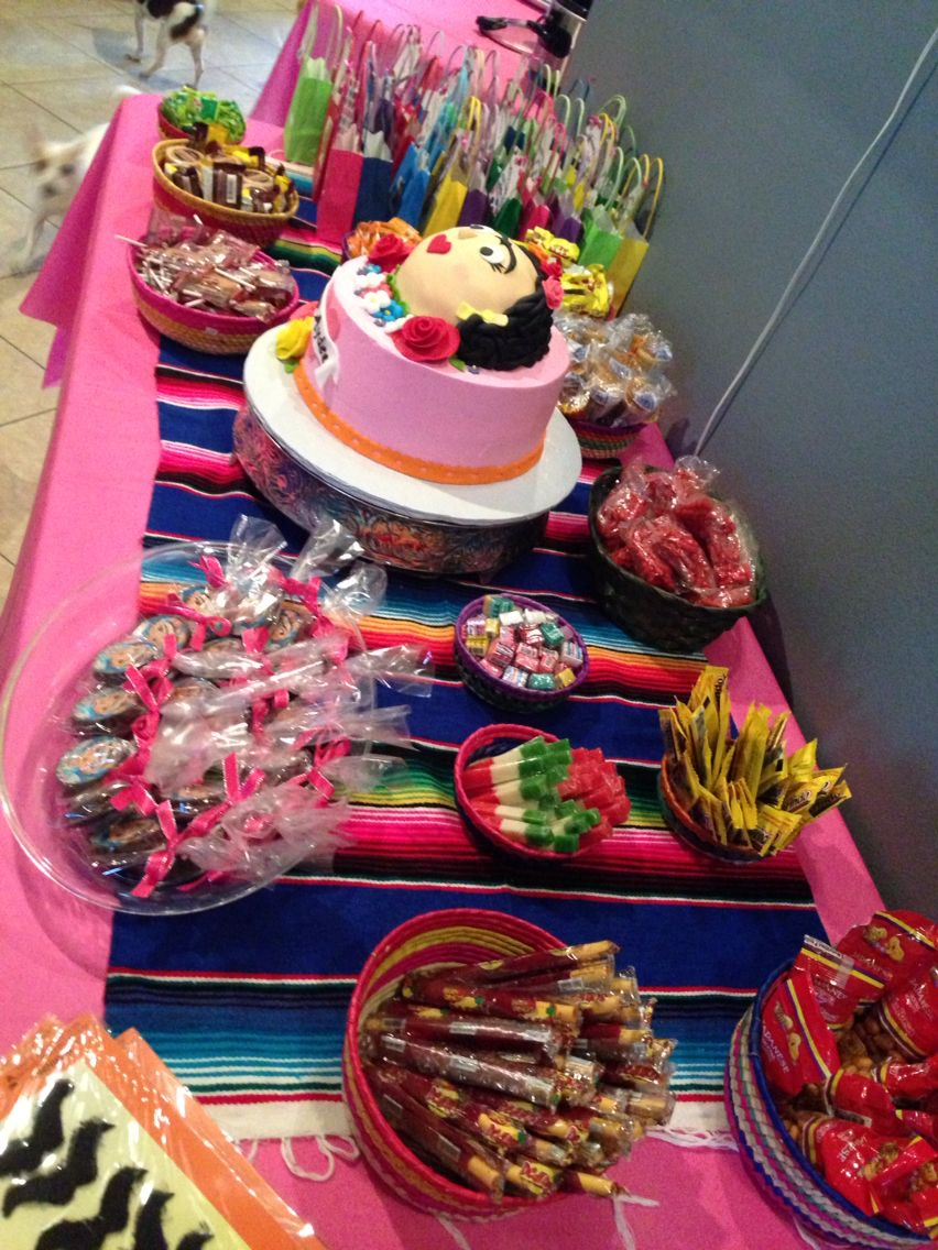 Mexican Candy Buffet Table Frida Kahlo Party Fridakahlo Mexicancandy Mexican Party Mexican Candy Buffet Mexican Birthday Parties Mexican Fiesta Party