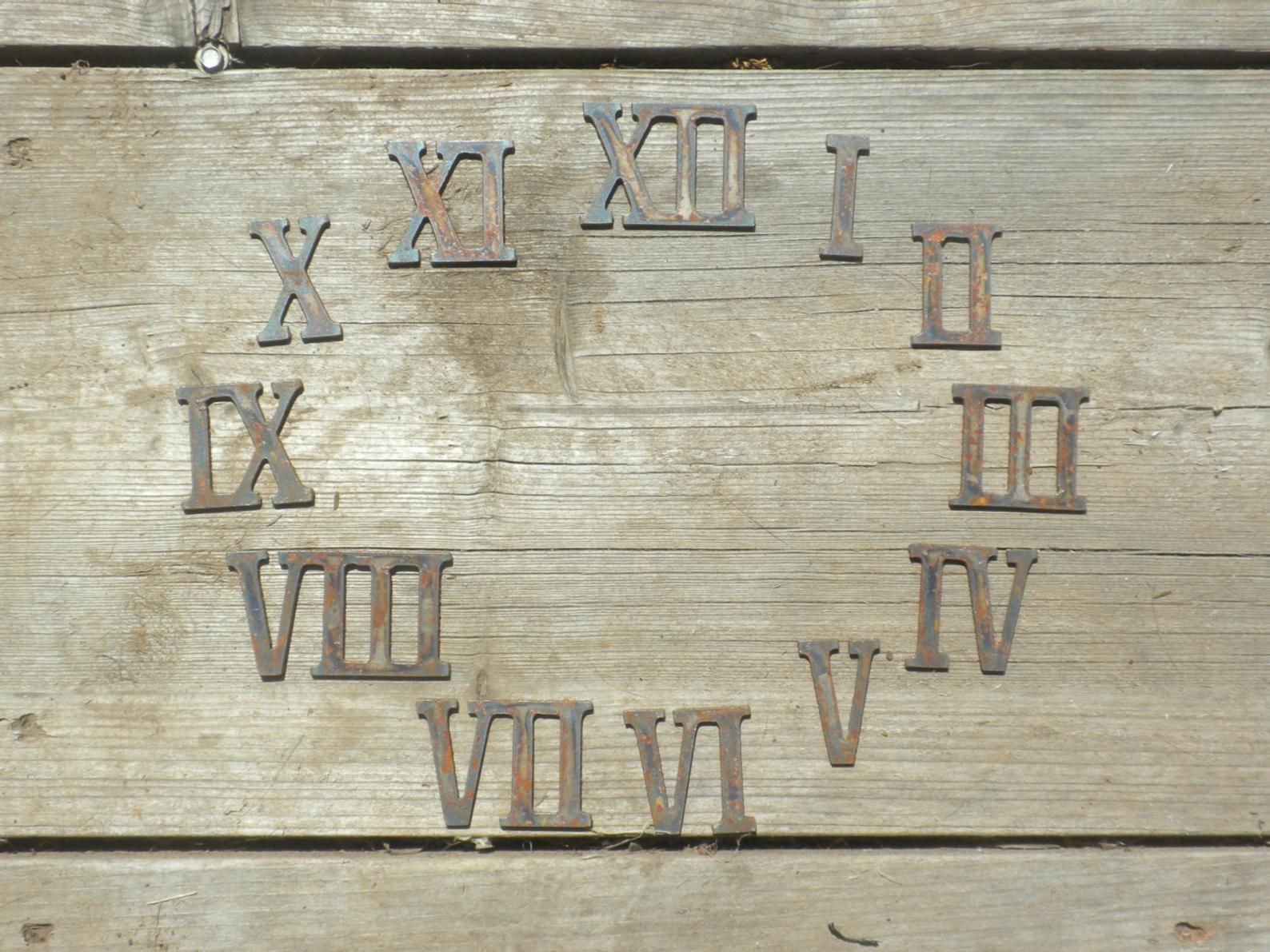 3 Inch Roman Numerals Numbers Clock Set 1 12 Rusty