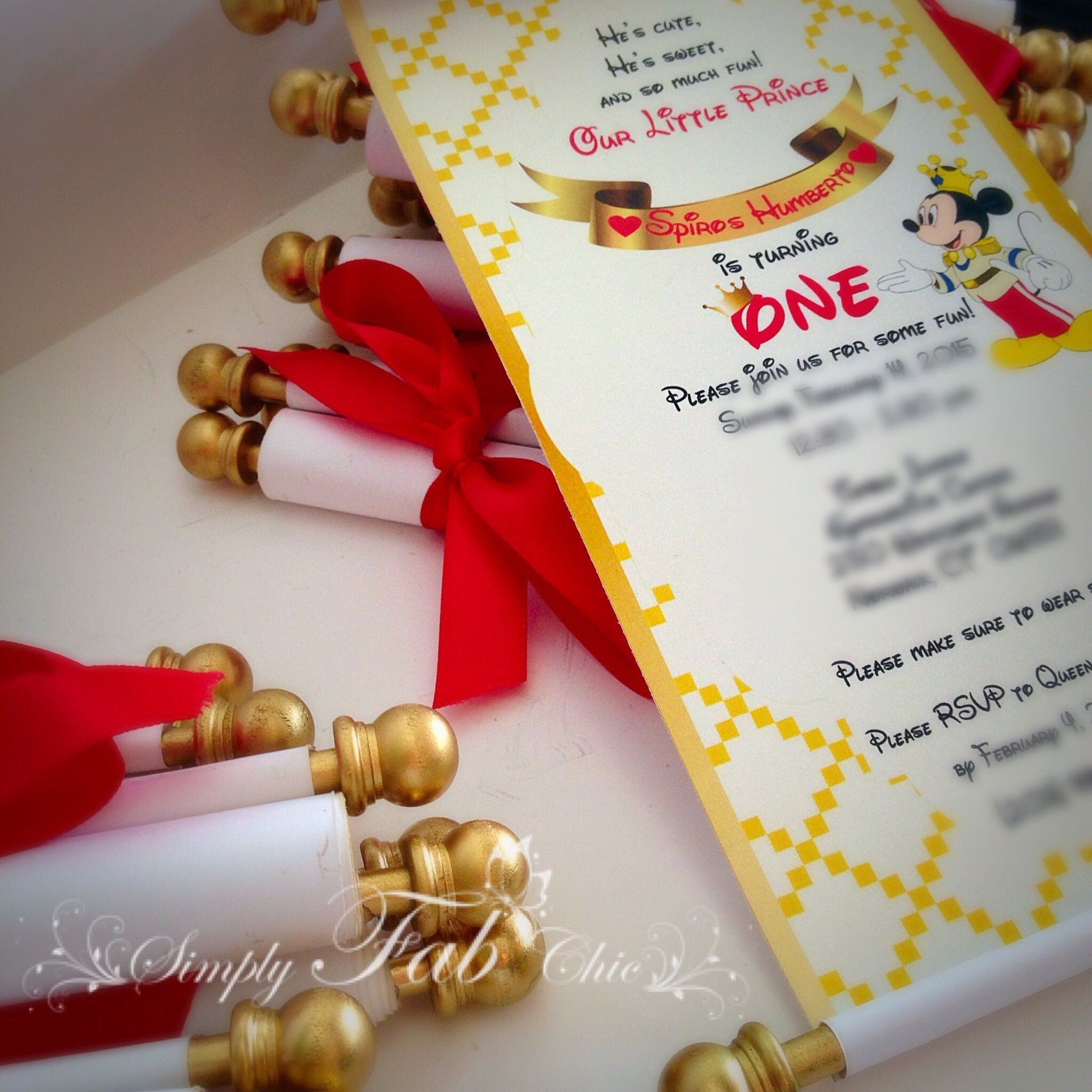 Prince Mickey Royal Scroll Invitation...I FOUND THE PERFECT ONE ...
