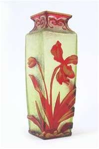 a french daum nancy art glass vase
