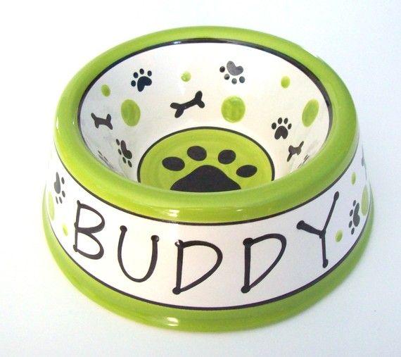 Cute Custom Dog Bowls Pottery Painting Designs Dog Bowls