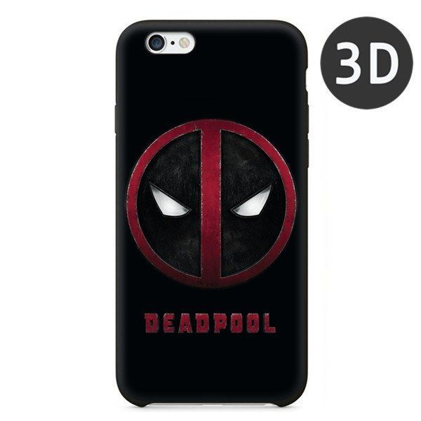 Super Cool Deadpool Black Soft Silicone Case For iPhone 5 5S 6 6S 6Plus Cover Case