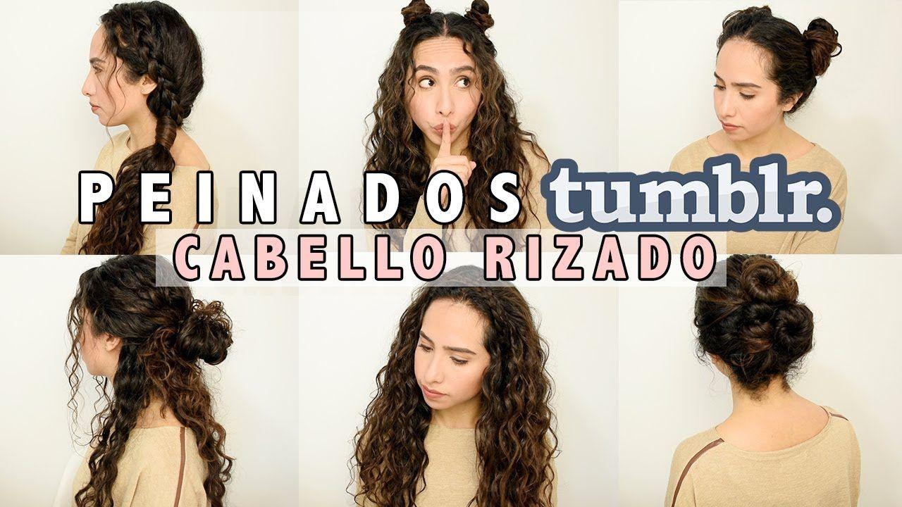 Peinados Tumblr Fáciles Cabello Rizado Largo Cabello