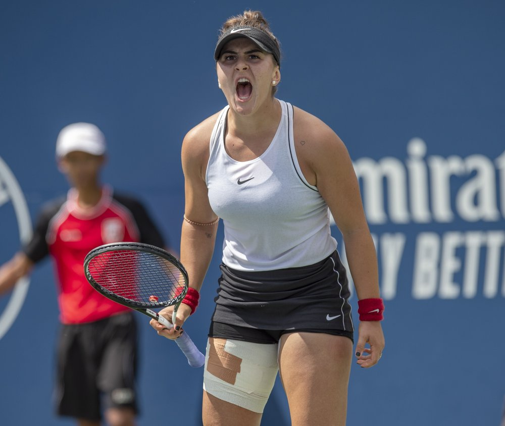 Bianca Andreescu Of Canada Celebrates A Point On Her Way To Defeating Sofia Kenin Of The United States During The R Cup Final Tennis Players Sports Magazine
