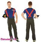 Teens Adult Fireman Fire Fighter Uniform Fancy Dress Costume Halloween Outfit #Costume #togacostume