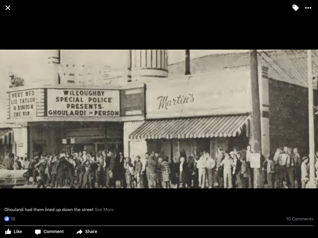 Ghoulardi At The Vine Movie Theater Outside Of Downtown Willoughby