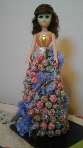 Doll Candy Bouquet Or Gift Candy Bouquet Candy Crafts