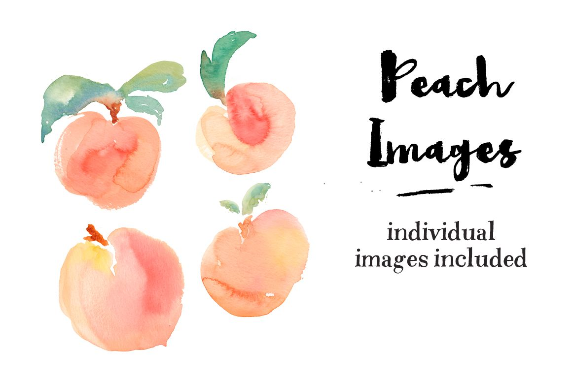 Watercolor Peaches Watercolor Patterns Fruit Painting Peach